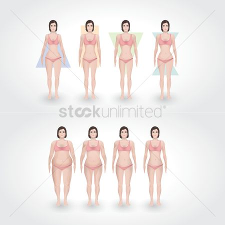 Swimsuit : Set of body shape types