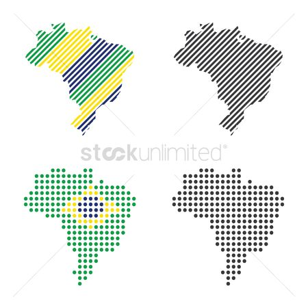 Cartography : Set of brazil maps