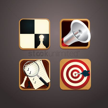 Bull : Set of business icons