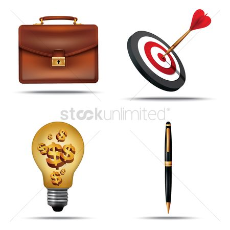 Dartboards : Set of business icons