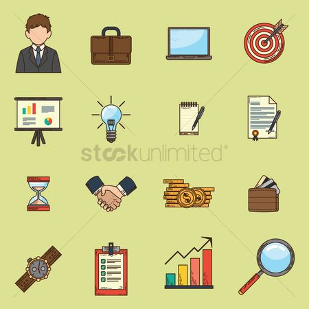 Achievements : Set of business icons