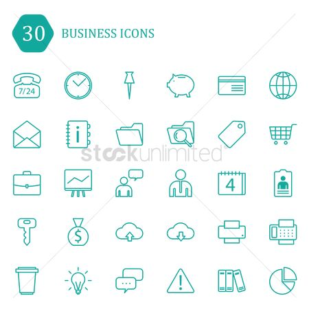 Briefcase : Set of business icons