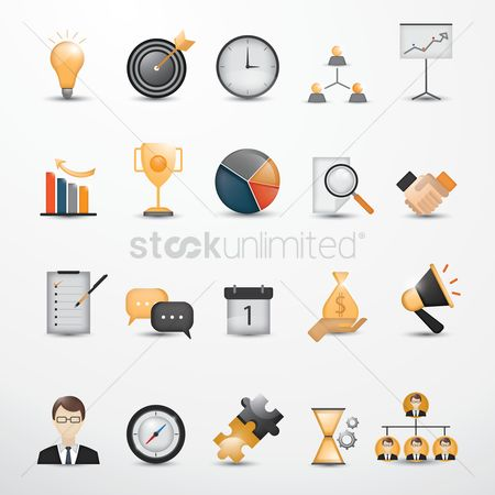 Checklists : Set of business strategy icons