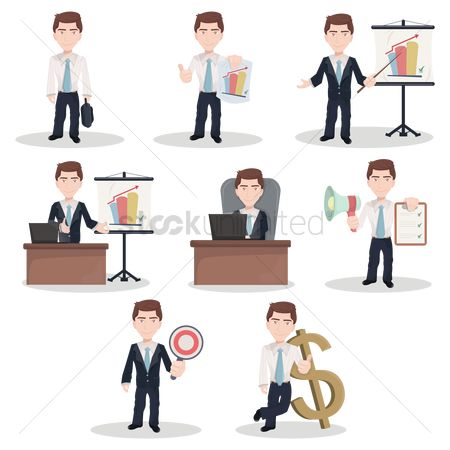 Work : Set of businessman figures