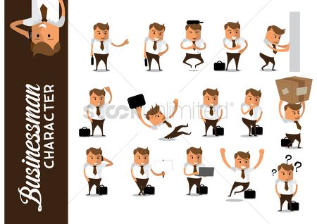Work : Set of businessman icons
