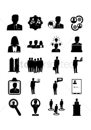 Mechanicals : Set of businessman icons