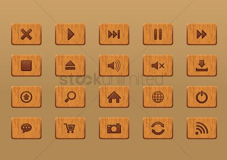 Volume : Set of button icons