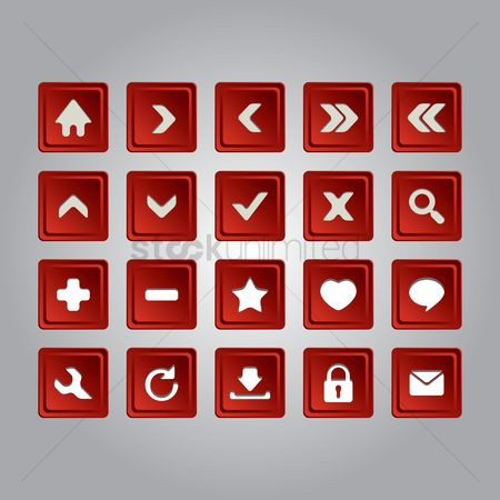 Plus : Set of button icons