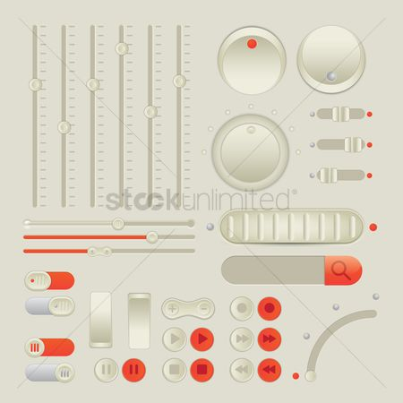Media play : Set of buttons