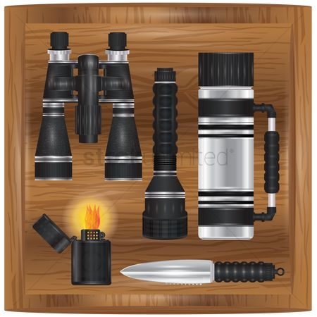 Lighter : Set of camping equipment