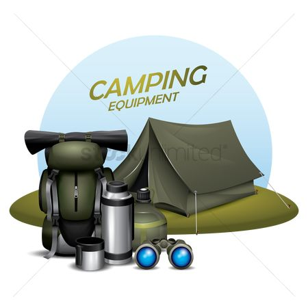 Camp : Set of camping icons