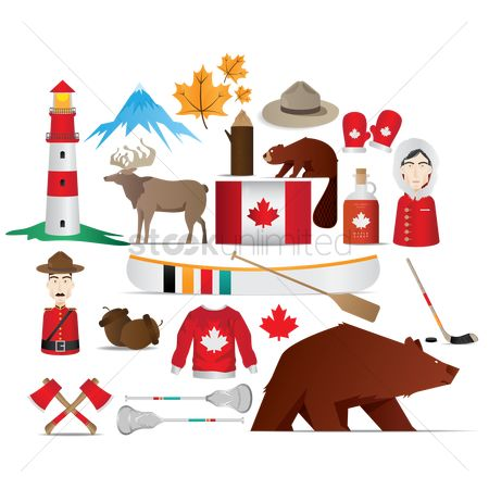 Paddle : Set of canada icons