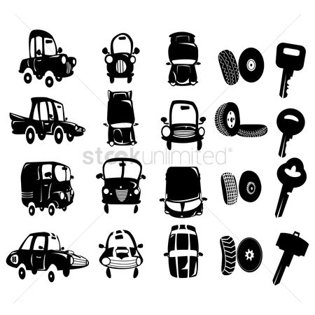 Mechanicals : Set of car icons