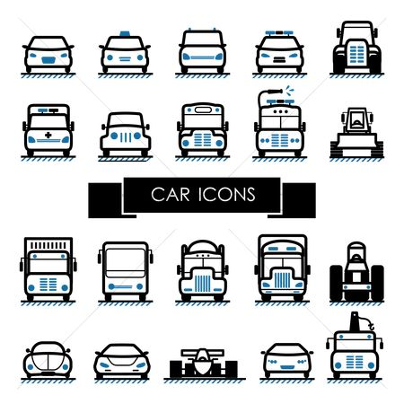 Taxis : Set of car icons