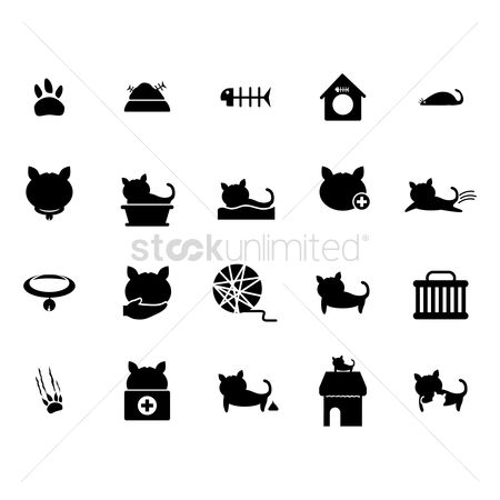 Basket ball : Set of cat icons