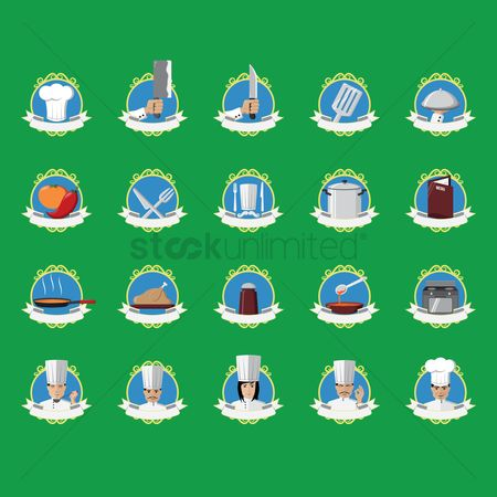 Stove : Set of chef icons