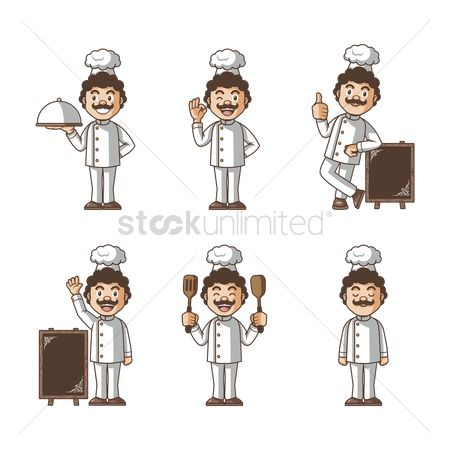Workers : Set of chef icons