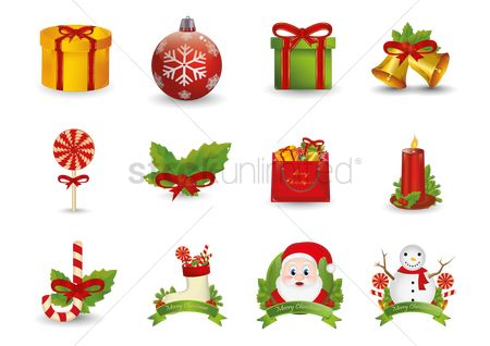 Confectionery : Set of christmas icons