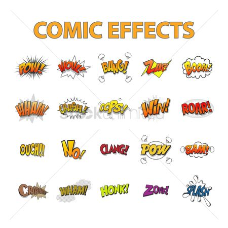 Communication : Set of comic effects