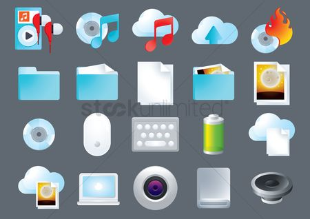 Speaker : Set of computer icons