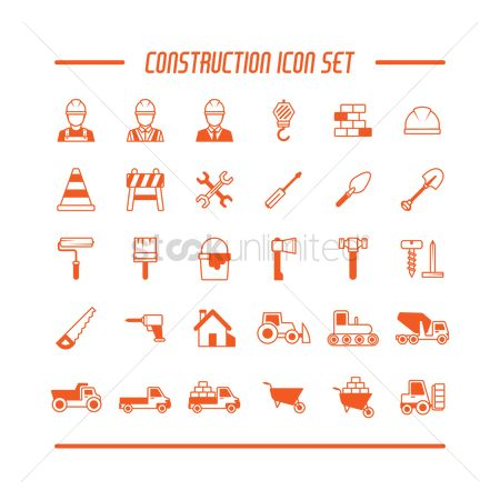 Workers : Set of construction icons