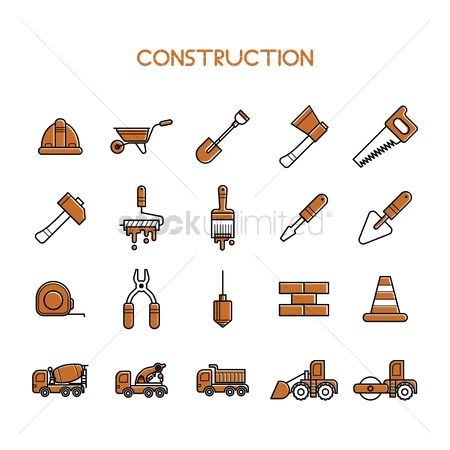 Screwdrivers : Set of construction icons