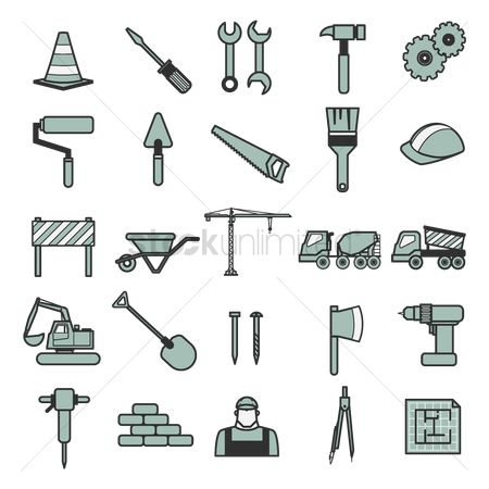 Barrier : Set of construction icons