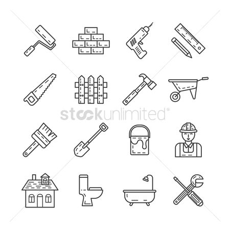 Blocks : Set of construction icons