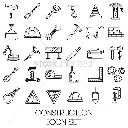 Caution : Set of construction tools