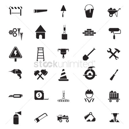 Hardwares : Set of construction tools