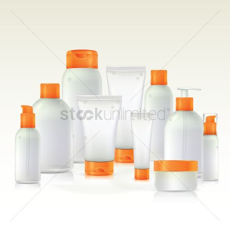 Products : Set of cosmetic tubes