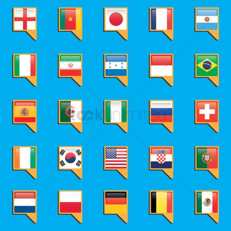 Patriotic : Set of country flag icons