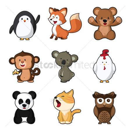 Owl : Set of cute animals