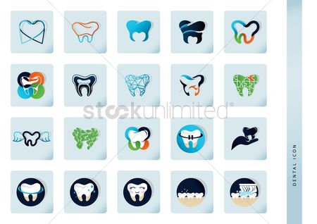 Jigsaw : Set of dental icons