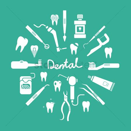 Health cares : Set of dental icons