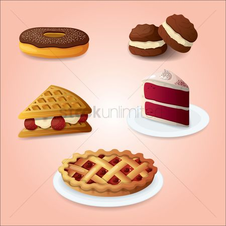 Confectionery : Set of dessert