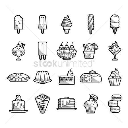 Cones : Set of desserts