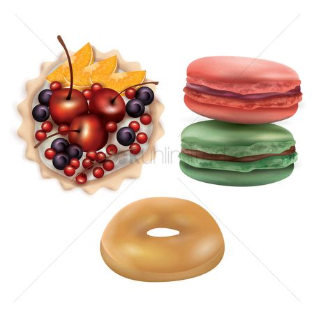 Doughnuts : Set of desserts
