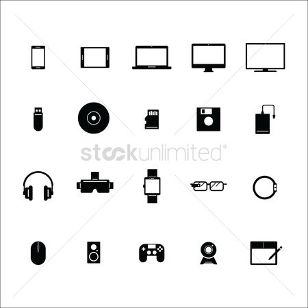 Wrist exercise : Set of device icons