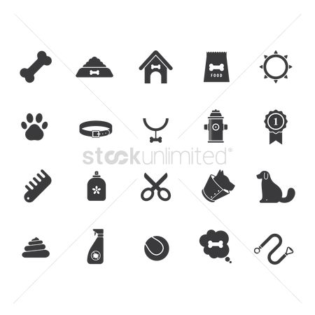 Accessories : Set of dog icons