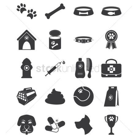 Beware : Set of dog icons