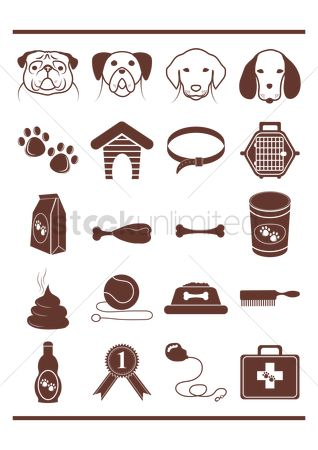 Brushes : Set of dog icons