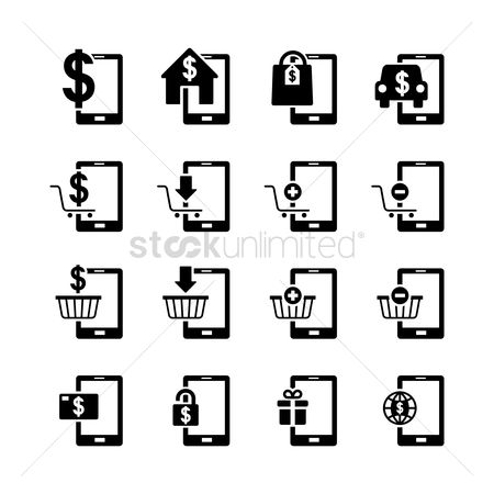 E commerces : Set of e-payment icons