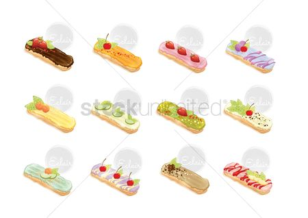 Topping : Set of eclairs