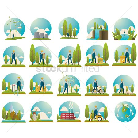 Clean : Set of ecology icons