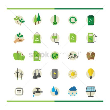 Petroleum : Set of ecology icons