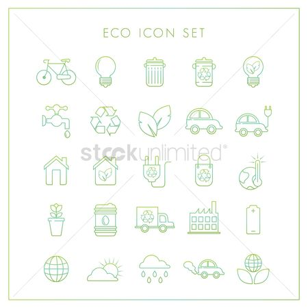 Temperatures : Set of ecology icons