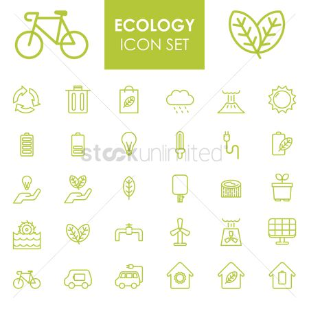 Nuclear : Set of ecology icons