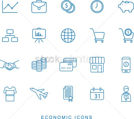 E commerces : Set of economic icons