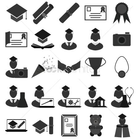 Teddybears : Set of education icons